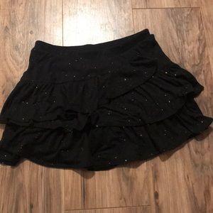 Justice EUC Black skirt w Rainbow glitter flecks
